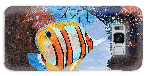 Longnose Butterfly Fish Galaxy Case