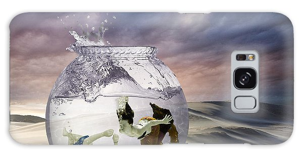 Swimming Galaxy Case - 2 Lost Souls Living In A Fishbowl by Linda Lees
