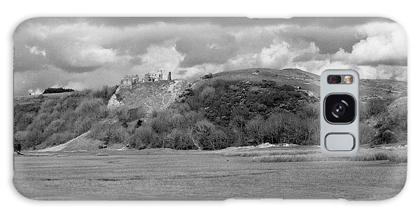 Lowering Clouds Over Pennard Castle Galaxy Case