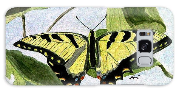Male Eastern Tiger Swallowtail Galaxy Case by Angela Davies