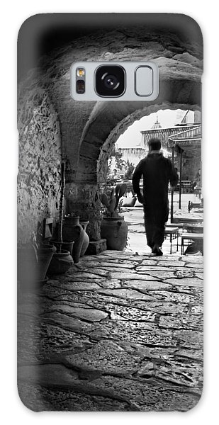 Galaxy Case featuring the photograph Man In An Archway / Hammamet by Barry O Carroll