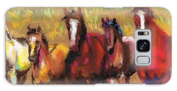 Mares And Foals Galaxy Case by Frances Marino