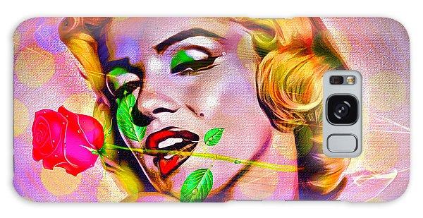 Galaxy Case featuring the digital art Marilyn Monroe by Eleni Mac Synodinos