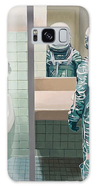 Science Fiction Galaxy Case - Men's Room by Scott Listfield