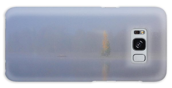Misty Morning On A Lake Galaxy Case