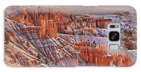 Morning Snow At Bryce Galaxy Case by Roman Kurywczak