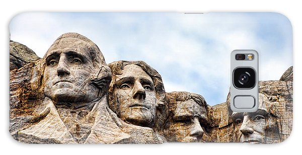 Mount Rushmore Monument Galaxy Case by Olivier Le Queinec