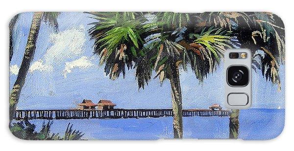 Clock Galaxy Case - Naples Pier Naples Florida by Christine Hopkins