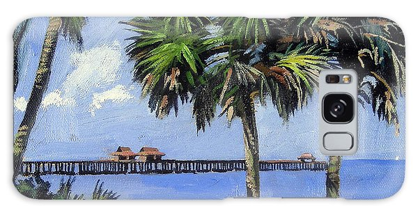 Herons Galaxy Case - Naples Pier Naples Florida by Christine Hopkins