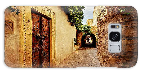 Galaxy Case featuring the photograph Narrow Street In Souk / Hammamet by Barry O Carroll