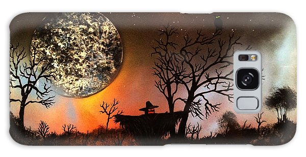 Night Of The Scarecrow  Galaxy Case by Michael Rucker