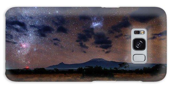 Night Sky Over Mount Kilimanjaro Galaxy Case