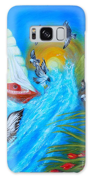 Nine Eagles For Success. Soul Collection Galaxy Case by Oksana Semenchenko