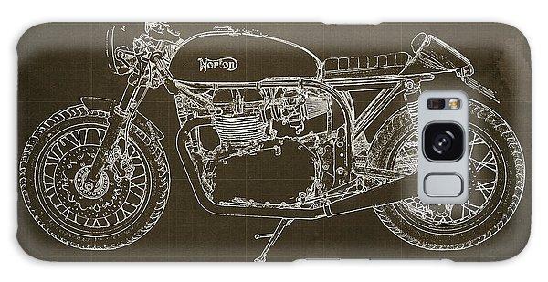 Blueprint Galaxy Case - Norton Cafe Racer Blueprint by Drawspots Illustrations