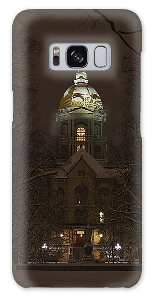 Notre Dame Golden Dome Snow Galaxy Case