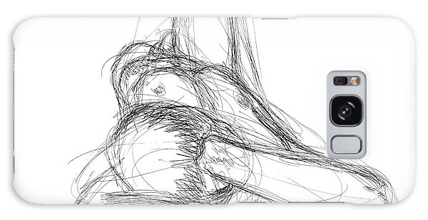 Nude Male Sketches 2 Galaxy Case