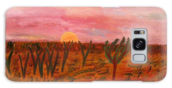 Ocean City Sunset Galaxy Case by Vadim Levin