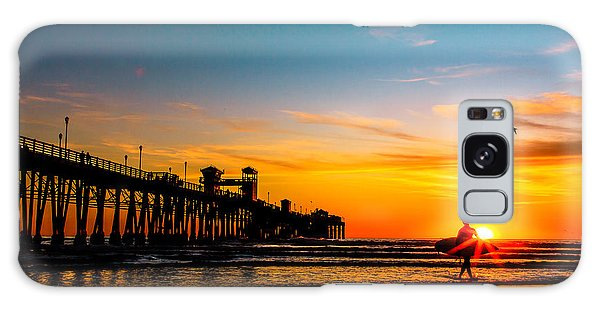Oceanside Pier At Sunset Galaxy Case