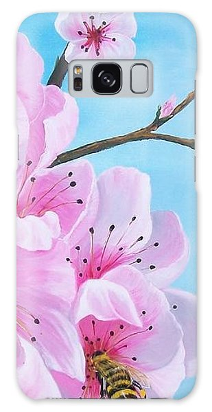 #2 Of Diptych Peach Tree In Bloom Galaxy Case