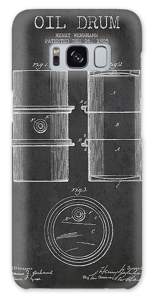 Drum Galaxy Case - Oil Drum Patent Drawing From 1905 by Aged Pixel