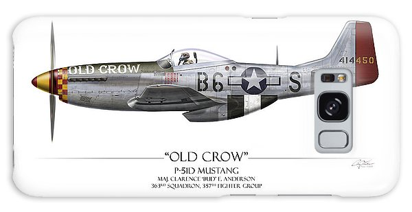 Old Crow P-51 Mustang - White Background Galaxy S8 Case