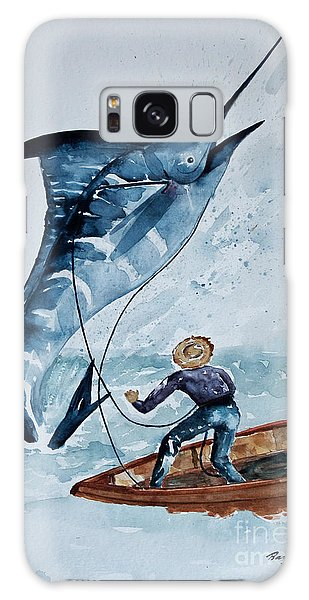 Old Man And The Sea Galaxy Case by Barbara McMahon