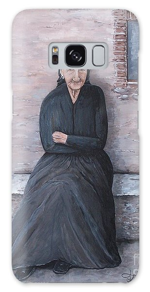 Old Woman Waiting Galaxy Case