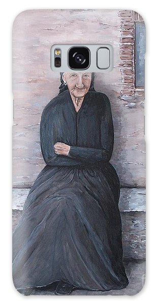 Old Woman Waiting Galaxy Case by Judy Kirouac