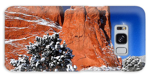 Orange And Blue Beauty At Garden Of The Gods Galaxy Case