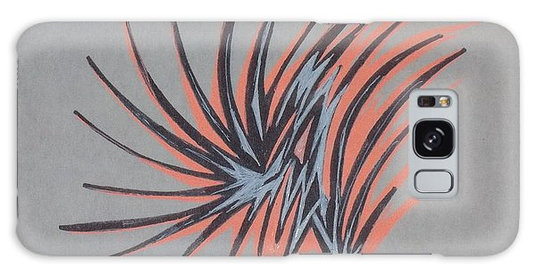 Organic Abstraction Galaxy Case - Orange Burst by D Wood