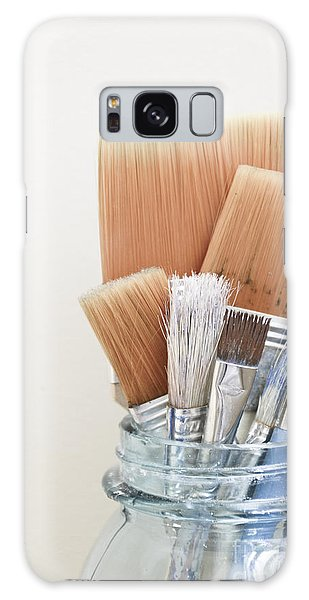 Paint Brushes In Jar Galaxy Case