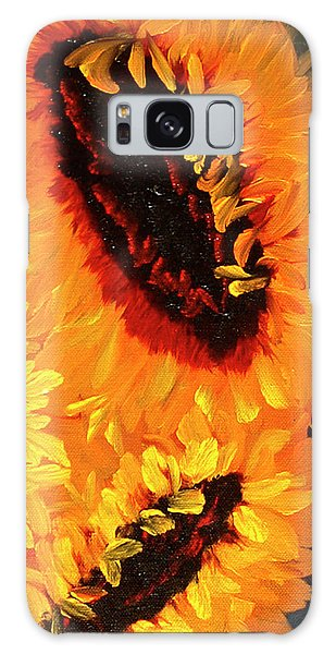 Painted Sunflowers Galaxy Case
