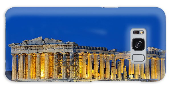 Parthenon In Acropolis Of Athens During Dusk Time Galaxy Case