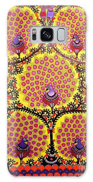 Peacocks-madhubani Paintings Galaxy Case