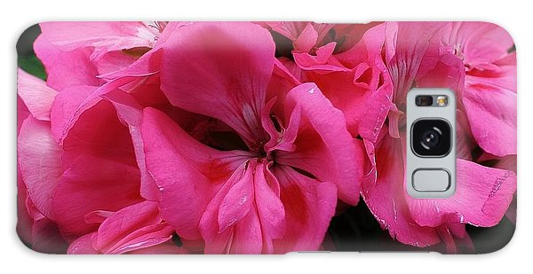 Pink Geranium Galaxy Case by Bruce Bley