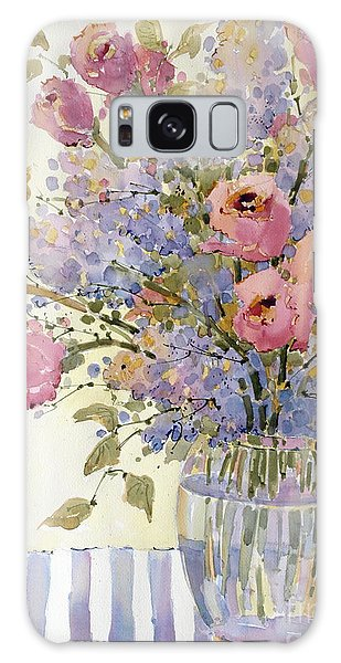 Pink Roses And Lilacs Galaxy Case