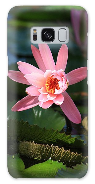 Pink Water Lilly Galaxy Case