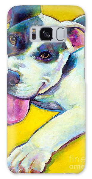 Pit Bull Puppy Galaxy Case by Robert Phelps