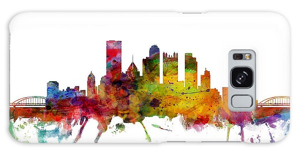United States Galaxy Case - Pittsburgh Pennsylvania Skyline by Michael Tompsett
