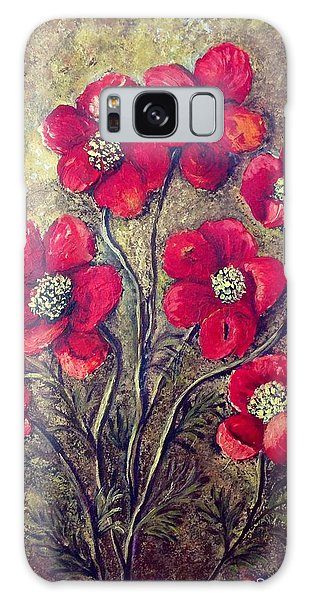 Poppies Galaxy Case by Renate Voigt