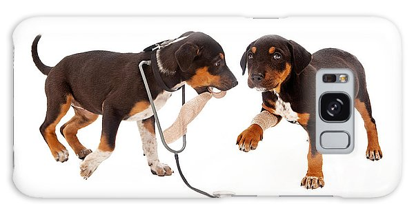 Puppy Veterinarian And Patient Galaxy Case