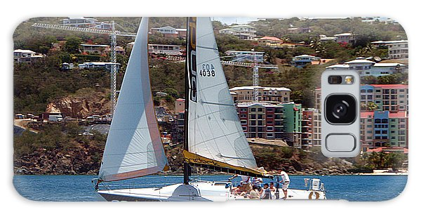 Racing At St. Thomas 1 Galaxy Case