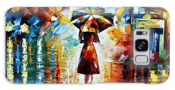 Reflections Galaxy Case - Rain Princess - Palette Knife Landscape Oil Painting On Canvas By Leonid Afremov by Leonid Afremov