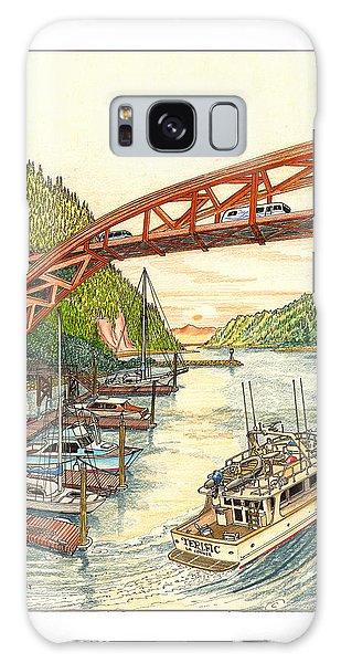 Motor Yacht Galaxy Case - Rainbow Bridge La Connor W A by Jack Pumphrey