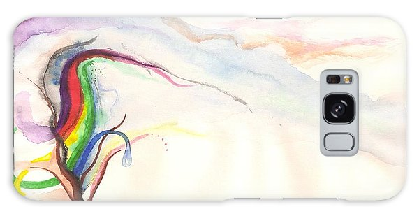 Rainbow Tree Galaxy Case by Rod Ismay