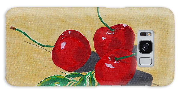 Red Cherries Galaxy Case by Johanna Bruwer