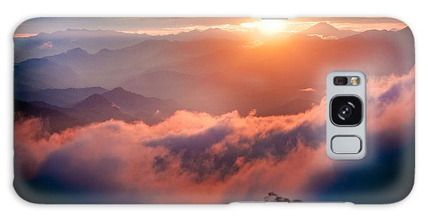 Red Sunset Himalayas Mountain Nepal Galaxy Case