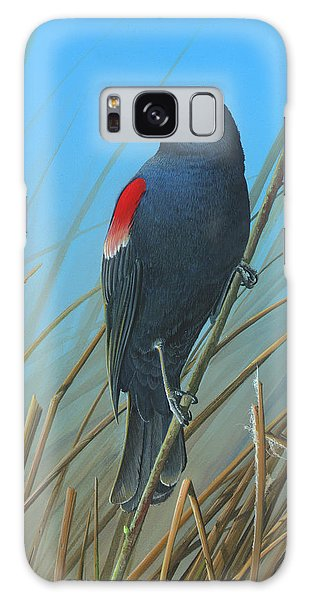 Red-winged Black Bird Galaxy Case