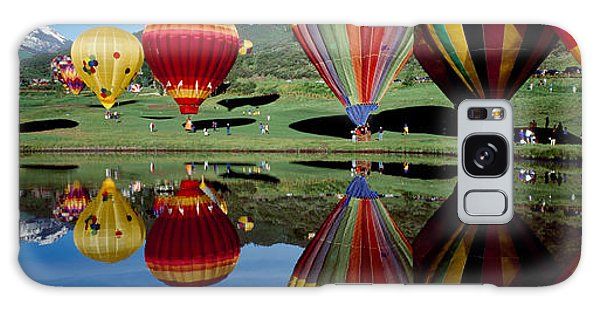 Reflection Of Hot Air Balloons Galaxy Case