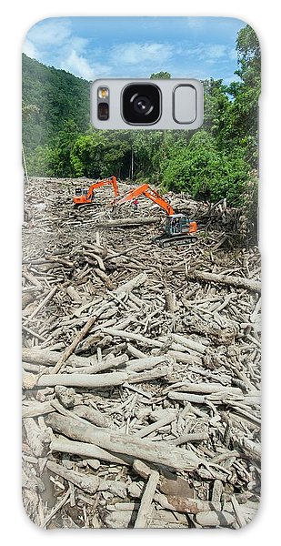 Excavator Galaxy Case - River Full Of Trees After Landslid by Scubazoo